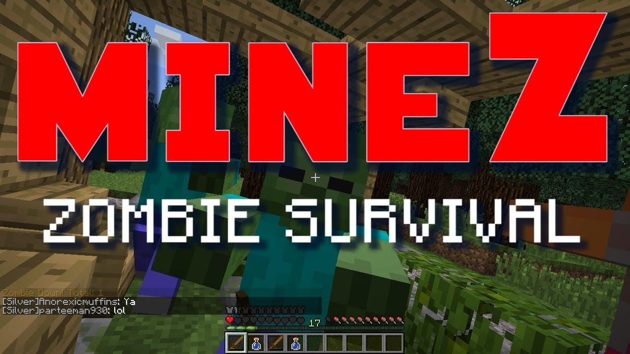 Minecraft MineZ E01 Kill Paul (Zombie Survival Server) YouTube