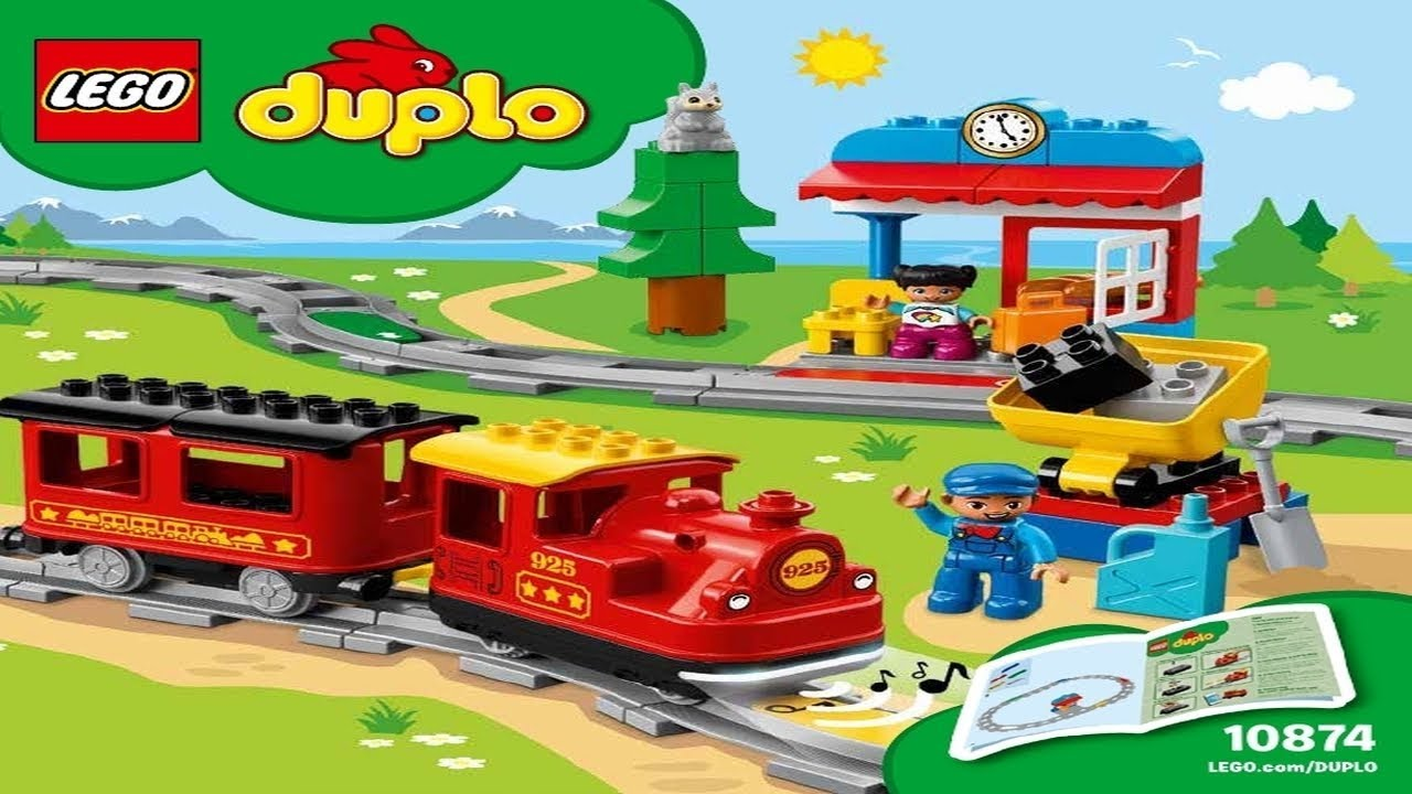 Lego Instructions Duplo Trains 10874 Steam Train Youtube