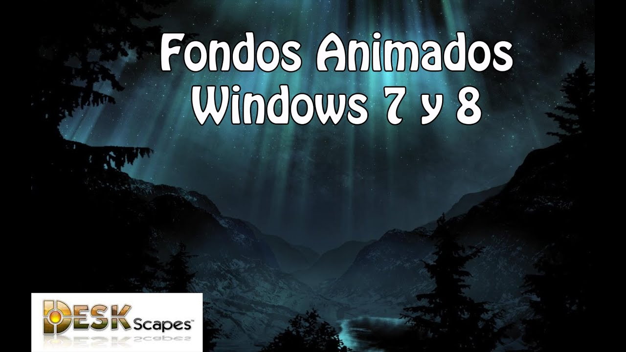 fondos de escritorio animados para windows 8 1 8 7 youtube