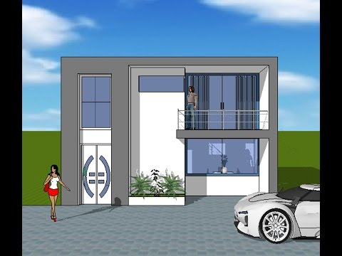 Fachadas de casas sencillas doovi for Casa moderna minimalista 6 00 m x 12 50 m 220 m2