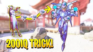 Symmetra players get creative... [200IQ Turret Trick!] - Overwatch OP Plays & Insane Moments Montage