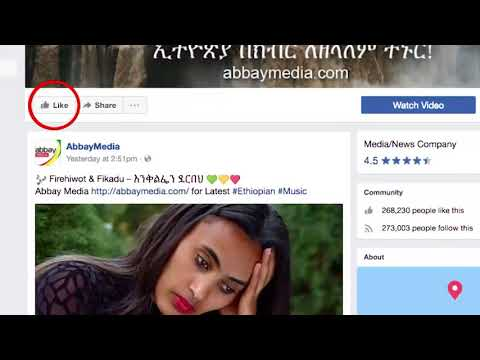 Abbay Media Facebook Like advert - for all things Ethiopia!