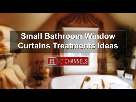 Small Bathroom Window Curtains Treatments Ideas