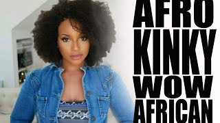 Slay with this Afro Kinky Curly lace wig :II: WowAfrican