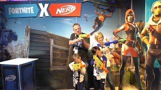 Toy Fair Day 2 - ZZ Kids TV vs DavidsTV WWE - Nerf Fortnite SCAR - Best Toys for 2019