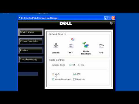 Dell WiFi & Mobile Broadband Connection Manager