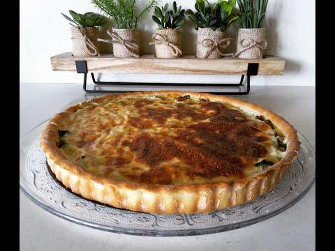 quiche-aux-épinards-et-viande-hachée-facileكيش-بحشوة-السلق-اللذيذة-والاقتصادية-وعجينة-تحضر-في-دقائق