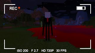 Slenderman in Minecraft Pocket Edition (Blood Evening Map)