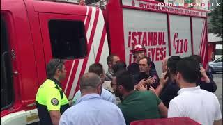 Son dakika… Taksim'de polis ile itfaiye birbirine girdi!