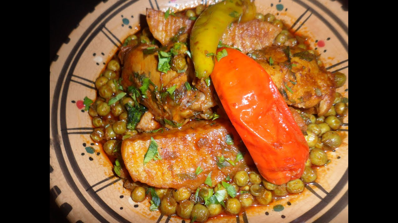 Recette jilb na ou petit pois a la tunisienne youtube for Cuisine tunisienne