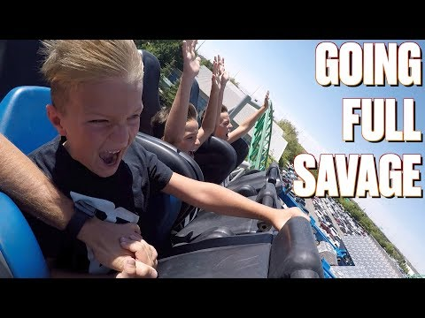 SAVAGE FIVE-YEAR-OLD KID CONQUERS TERRIFYING ROLLER COASTER | STRAIGHT FACE CHALLENGE | 7 COASTERS