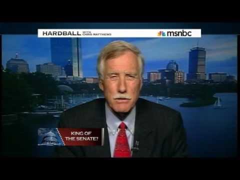 Angus King on MSNBC Hardball