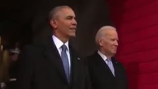Trump Inauguration   President Obama Greeted With Applause at Inauguration