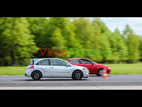 seat ibiza cupra 1 8 20vt 230 vs renault megane rs 225 youtube. Black Bedroom Furniture Sets. Home Design Ideas