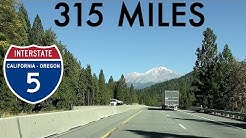 Driving thru mountains of N California, S Oregon for 315 miles of I-5 (Redding CA → Springfield OR)