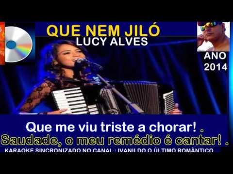 Que Nem  Jiló -  Lucy Alves - karaoke