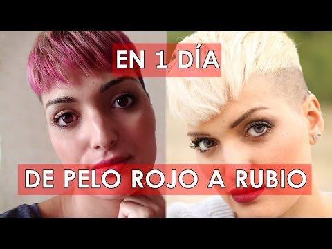 DE PELO ROJO A RUBIO EN UN DÍA | CHARLITA