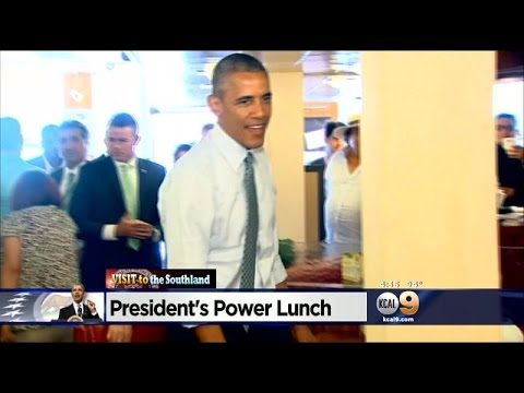President Obama Surprises Canter's Deli With Surprise Visit
