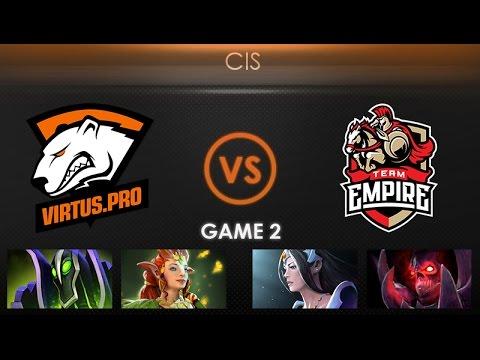 Virtus.pro vs Team Empire Game 2 - Kiev Major CIS Qualifier: Playoffs - @TobiWanDOTA @LDdota