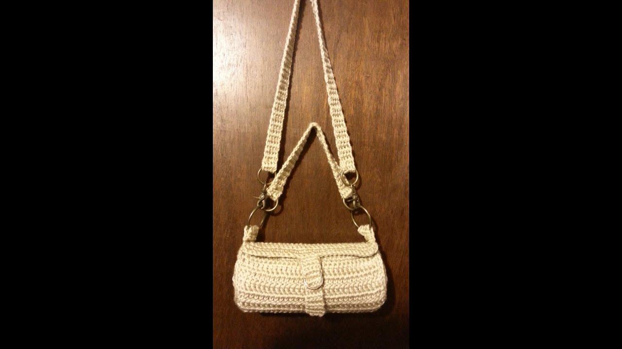db0e1756cf95 CROCHET How To #Crochet #handbag #purse lining #sewing Tutorial #48 LEARN  CROCHET DYI
