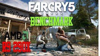 "Far Cry 5 : Benchmark  ""AMD R9 290x, i7 4790k"" | High, 1080p"