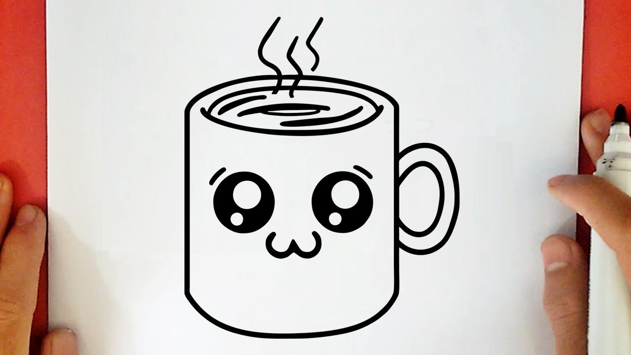 Como Dibujar Una Taza De Café Kawaii