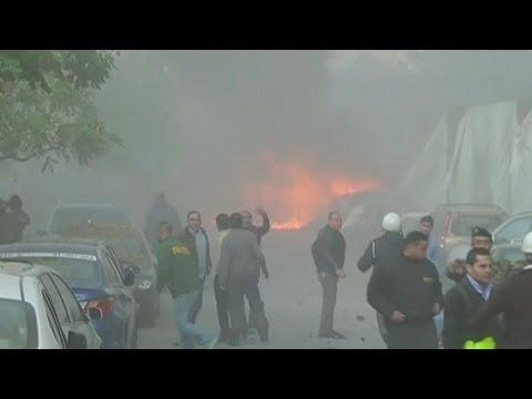 HUGE BEIRUT EXPLOSION KILLS FORMER LEBANESE MINISTER MOHAMAD CHATAH - BBC NEWS
