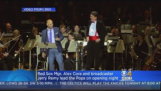 Red Sox Manager Alex Cora, Broadcaster Jerry Remy Help Boston Pops Kick Off Holiday Season