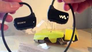 Sony Walkman W273 mp3 headphones unboxing