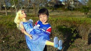 王子様に一目ぼれ?? おゆうぎ こうくんねみちゃん Doll fell in love for Koya pretend play