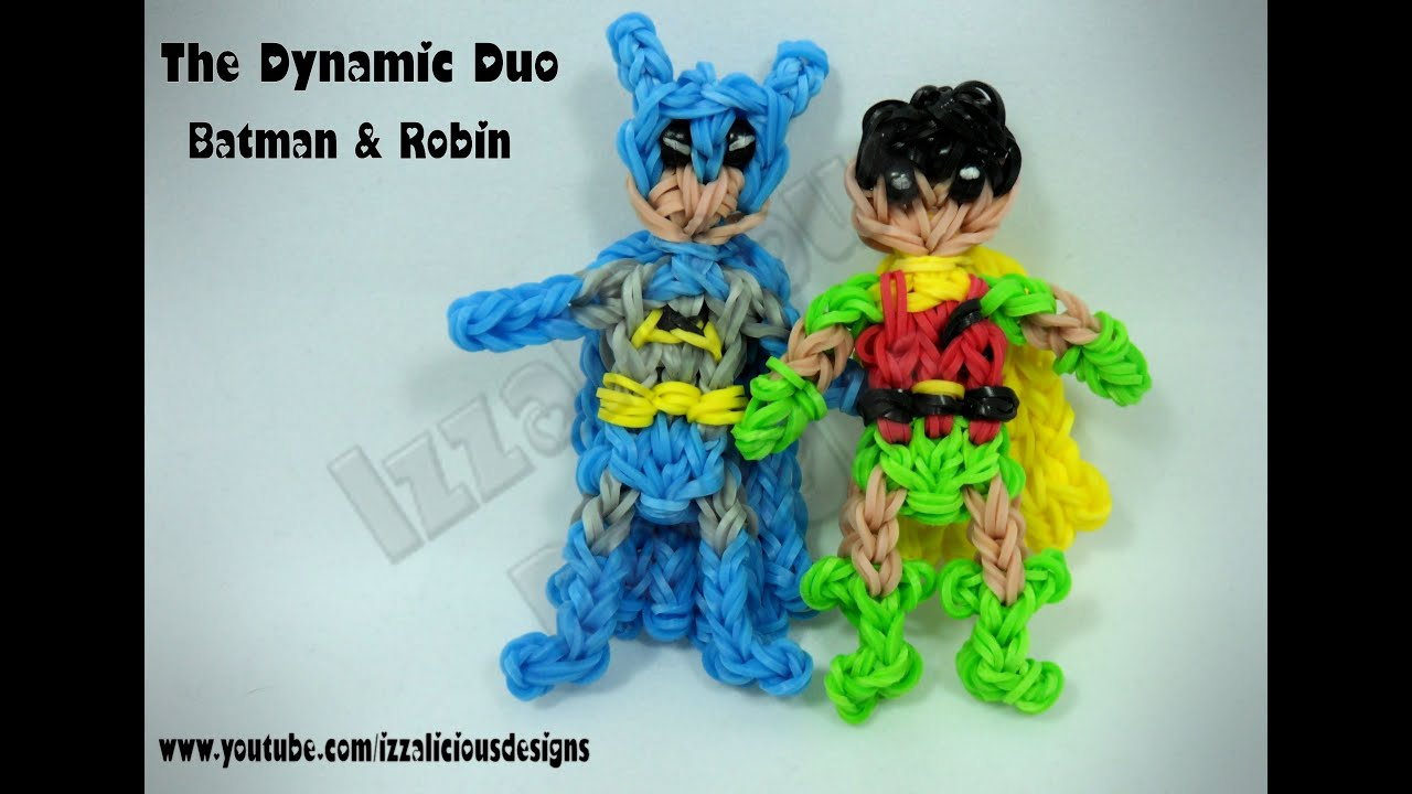Rainbow Loom Batman Action Figure Charm Adam West Version