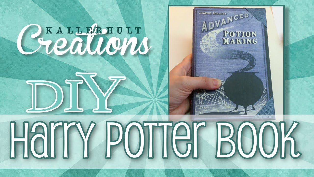 Harry Potter Book Cover Diy : Diy harry potter craft book youtube