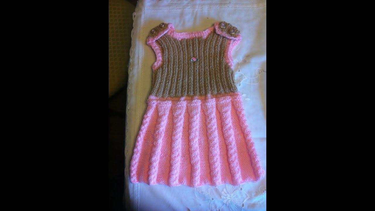 Babykleid Stricken*Trägerrock*Mädchenkleid*Kinderbekleidung*Teil 3 ...