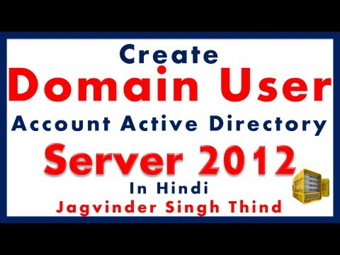 how to create users in active directory windows server 2012