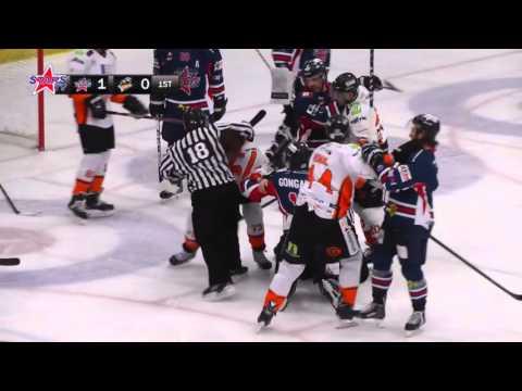Igor Gongalsky vs Robert Dowd EIHL fight 18-1-15