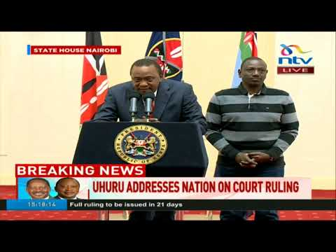 Personally I disagree with the Supreme Court decision - Uhuru Kenyatta