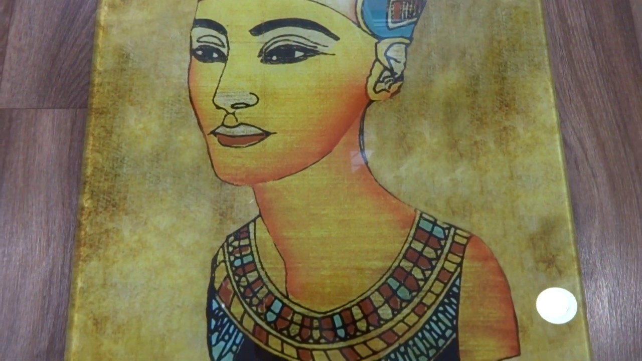 Стеклянная картина - Нефертити - Фотопечать на стекле в Днепре - Pavlin Art