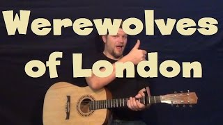 Werewolves of London (Warren Zevon) Easy Guitar Lesson How to Play Tutorial Licks TAB