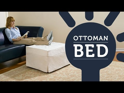 Small double ottoman bed with mattress deals
