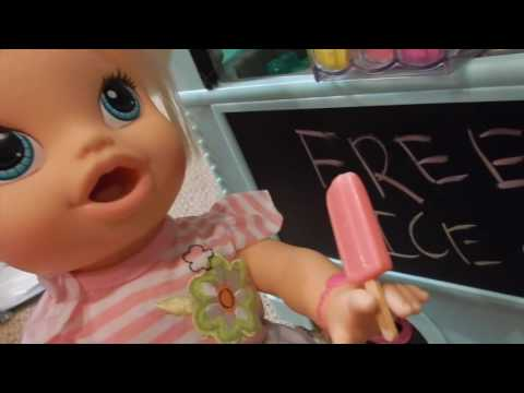 Baby Alives Eat Ice Cream From MaryEllen's Ice Cream Truck