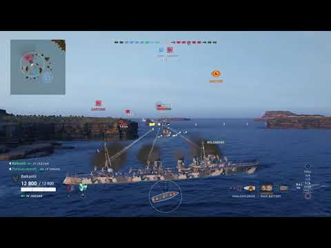 WoWS:Legends Jaguar traps NIKOLAI and surprises him with her torpedoes!
