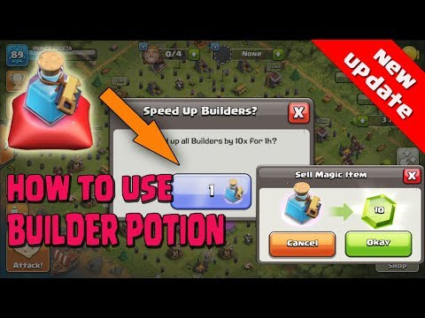 HOW TO USE  BUILDER POTION ,NEW MAGIC ITEMS | NEW UPDATE  | Clash Of Clans