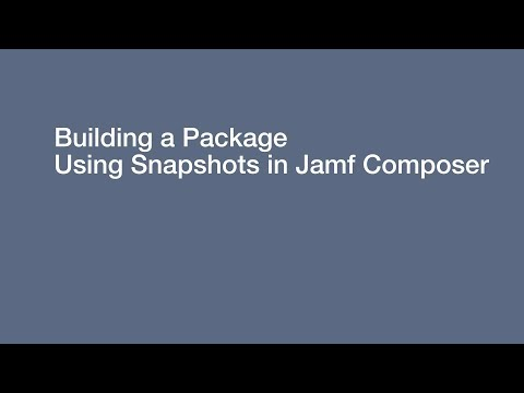 Knowledge Base - Building a Package Using Snapshots in Composer
