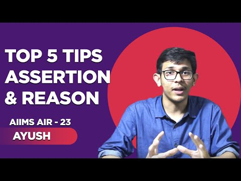 Assertion and Reasoning tricks (A and R)  Ayush-  Rank 23 AIIMS