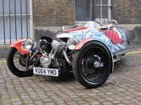 2015 Morgan 3 Wheeler Start Up, Test Drive, and In Depth Review