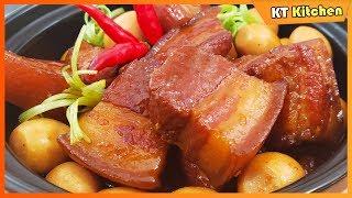 THỊT KHO TRỨNG - Bí Quyết Kho Thịt Có Màu Đẹp Không Cần Nước Dừa - Braised Pork Belly with Eggs