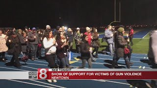 Newtown residents show support for victims of gun violence