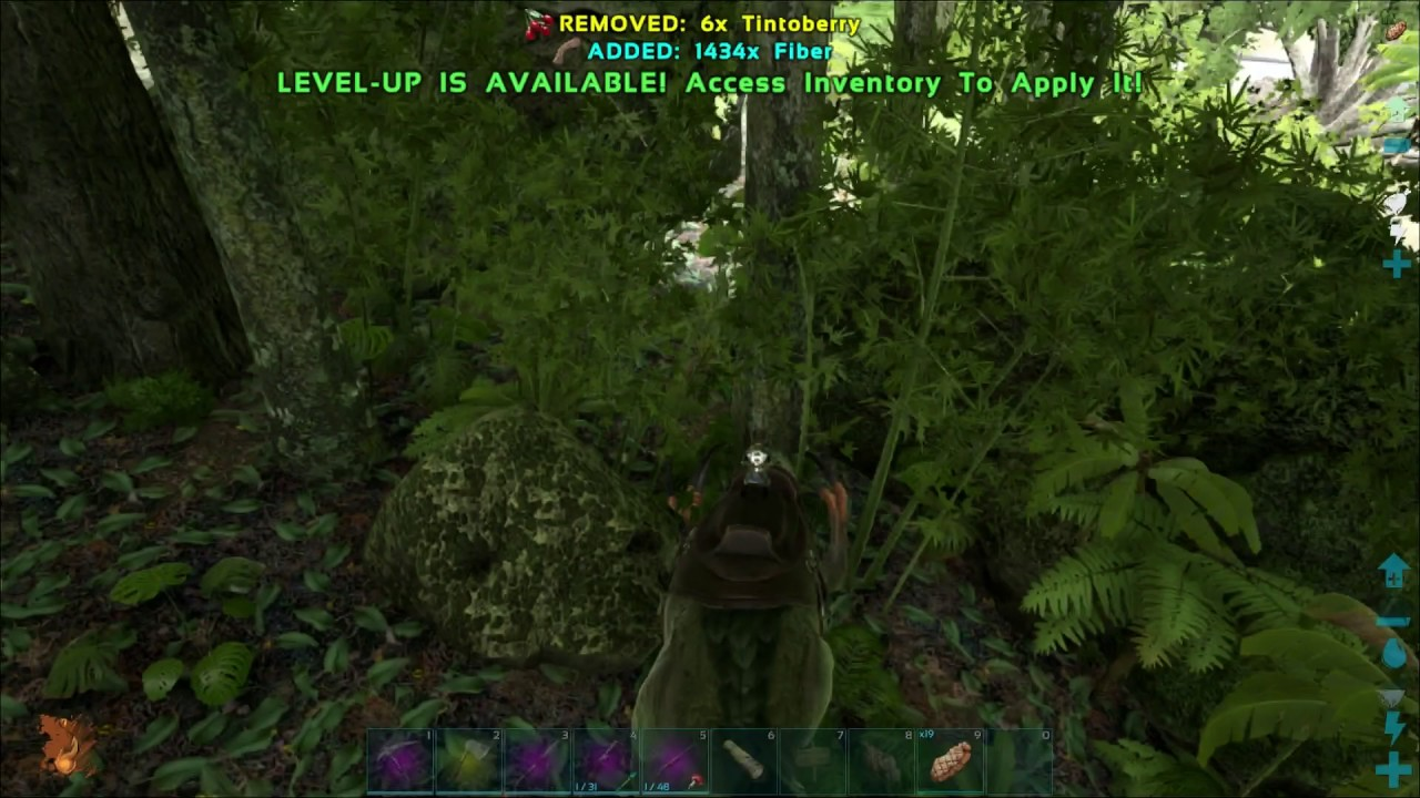 How To Gather Fiber With Therizinosaurus Ark Survival Evolved Youtube