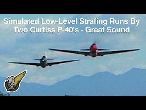 Curtiss P40 Kittyhawks Very Low & Fast
