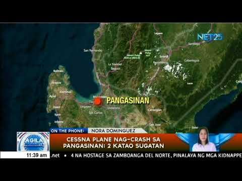 2 sugatan sa plane crash sa Pangasinan